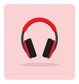 flat icon headphones vector image vector image