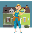 Flipping a house vector image vector image