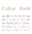 font from a color inking vector image vector image