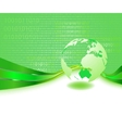green informational planet - business concept vector image vector image