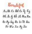 hand draw alphabet uppercase and lowercase vector image