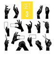 hands gestures with card pen vector image vector image