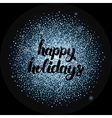 Happy Holidays Lettering over Silver vector image