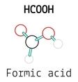 HCOOH formic acid molecule vector image vector image