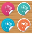 Head with brain iconFemale woman symbols vector image vector image