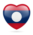 Heart icon of Laos vector image vector image