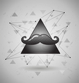 hipster Space triangle with Mustaches vector image vector image