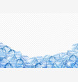 ice cubes realistic 3d background vector image vector image