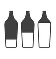 icons filling bottles with liquid on white vector image vector image