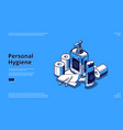 landing page personal hygiene vector image