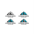 mountain building logo vector image