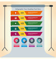 multiple infographics presenting information vector image vector image