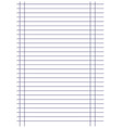 notebook paper background black lines with margin vector image