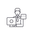 operational meeting line icon concept operational vector image vector image
