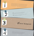 Paper Number Step Banner vector image vector image