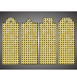 Price tag tag with shiny gold sequin Eps 10 vector image vector image