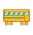 Rail car icon cartoon style vector image vector image
