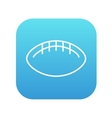 Rugby football ball line icon vector image vector image