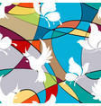 seamless background with butterflies and birds vector image