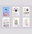 set brohucres with infographic elements in vector image vector image