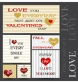 Set of Happy Valentines Day Cards vector image vector image