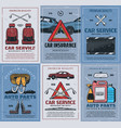 spare parts car insurance retro vehicles repair vector image vector image
