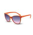 stylish orange sunglasses vector image