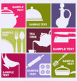 symbols cooking food restaurant vector image