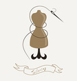 Tailoring emblem with mannequin or dummy and vector image vector image