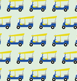 taxi tuktuk pattern vector image vector image