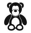 Teddy bear icon simple style vector image vector image