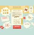 template menu placemat for burger house vector image vector image