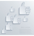 thumb up icon background Eps10 vector image vector image