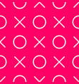 tile x o noughts and crosses pink pattern vector image