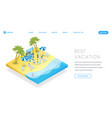 tourism industry landing page template vector image vector image