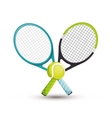 two racket tennis ball icons graphic vector image vector image