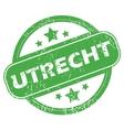 Utrecht green stamp vector image vector image