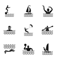 Water stay icons set simple style vector image vector image