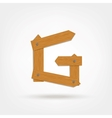 Wooden Boards Letter G vector image vector image
