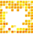 Yellow tech squares on white background vector image vector image