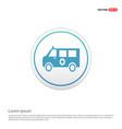 ambulance icon - white circle button vector image vector image
