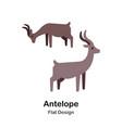 antelope flat icon