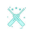 bat bats star cricket icon design vector image