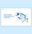 best online training exam platform banner vector image vector image
