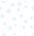 blue snowflakes on a white background seamless vector image vector image