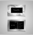 bokeh lights business card design vector image vector image