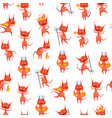 cartoon characters devil seamless pattern vector image vector image