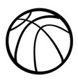 cartoon image of basketball ball vector image vector image