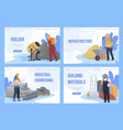 collection construction landing page user vector image