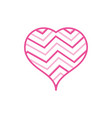 color line heart to love symbol with rainbow vector image